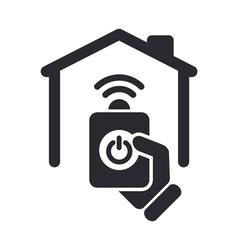 Remote home icon vector