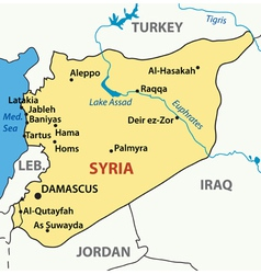 map of syria vector image