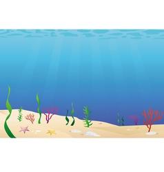 ocean floor seabed vector image
