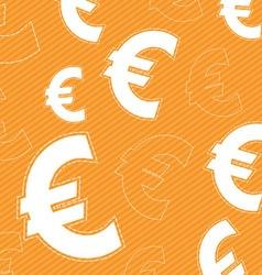 euro money icon background vector image