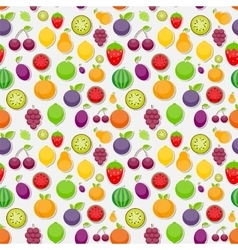 Seamless pattern background from apple orange vector