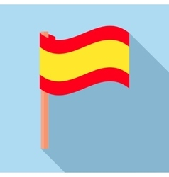 Flag of spain icon flat style vector