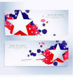 Abstract 4th of july banners vector