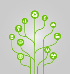 Abstract icon tree - environment vector image