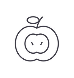 apple sign line icon sign on vector image