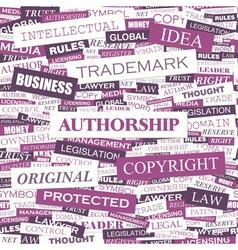 Authorship vector