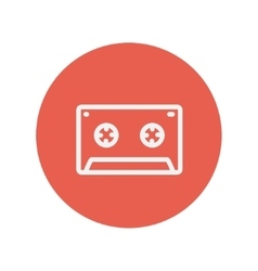 Cassette tape thin line icon vector image
