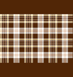 Check brown beige textile seamless pattern vector