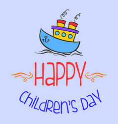 colorful childrens day style background vector image vector image