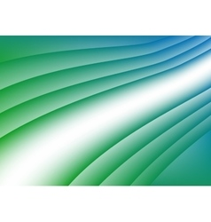 Green blue wave background vector image