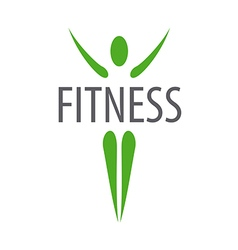 Green logo for fitness club vector image vector image