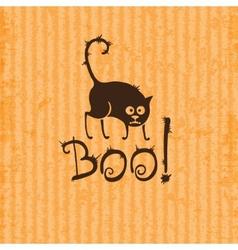 Halloween cat boo vector