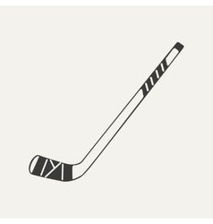 Hockey stick black and white vector