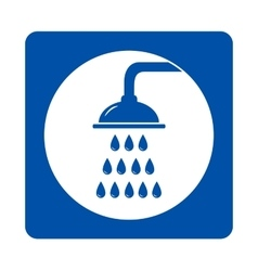 Icon with shower and drops vector