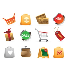 Icons for navigation vector image vector image