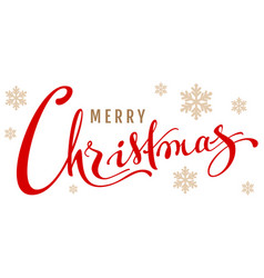 merry christmas calligraphy text isolated on vector image vector image
