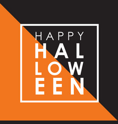 minimal halloween background vector image vector image