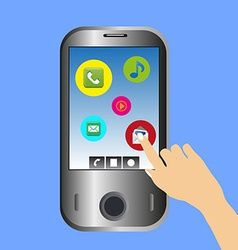 Mobile phone use vector image