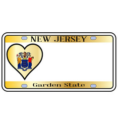 New jersey state license plate vector
