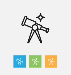 of science symbol on telescope vector image vector image