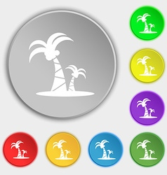 paml icon sign Symbol on eight flat buttons vector image