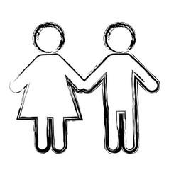 pictogram couple icon vector image