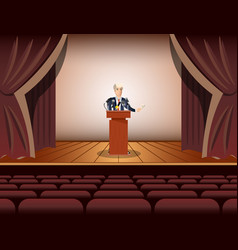 public speaker standing and speaking to vector image vector image