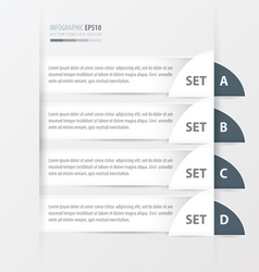 Semicircle modern infographics bannerwhite color vector