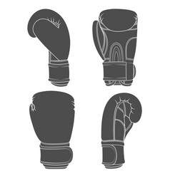 set of with boxing gloves vector image vector image