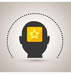 Silhouette star app icon vector