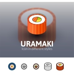 Uramaki icon in different style vector
