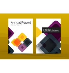 Modern square business annual report cover vector