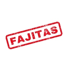 Fajitas text rubber stamp vector
