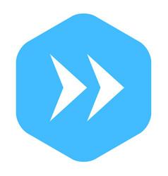 Arrow sign flat hexagon icon vector