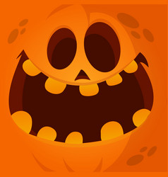 Cartoon jack lantern face vector