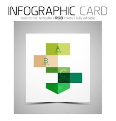 Geometric shape infographic business card vector