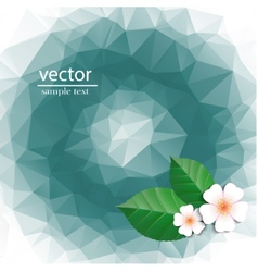 Polygonal pattern with flowers vector