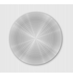 Rounded brushed metal plate vector