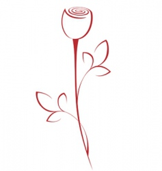 Line rose vector