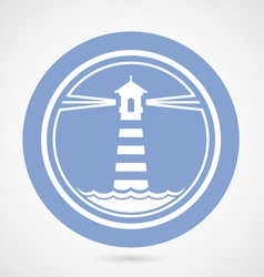 Maritime lighthouse simple icon vector