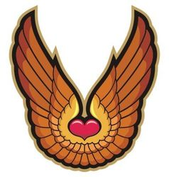 Heart and wings vector image