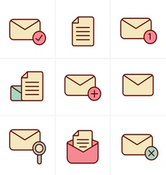 Icons set of icons for messages design vector