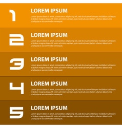 Orange to brown modern design business horizontal vector