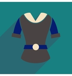 Flat icon with long shadow women blouse vector