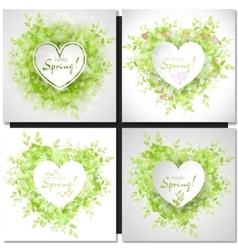 Fresh spring green grass leaves frame vector