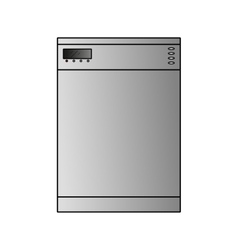 Dishwasher wide vector