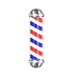 barbershop pole isolated vector image