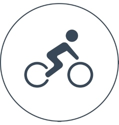 Bicycle racer icon vector
