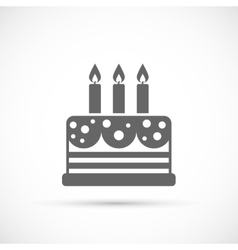 Cake with candles icon vector image