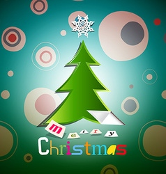 Christmas card xmas with tree vector